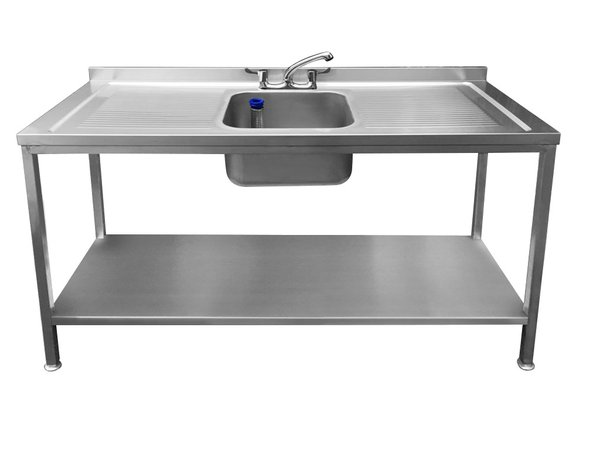 Single bowl sink double drainer