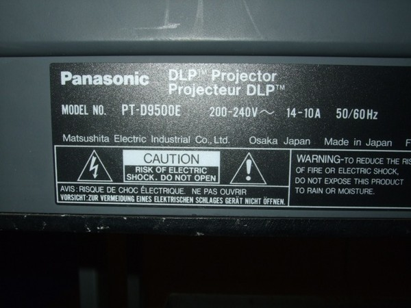 Second Hand Panasonic 10,000 Ansi Lumen XGA (1024 x 768) Projector