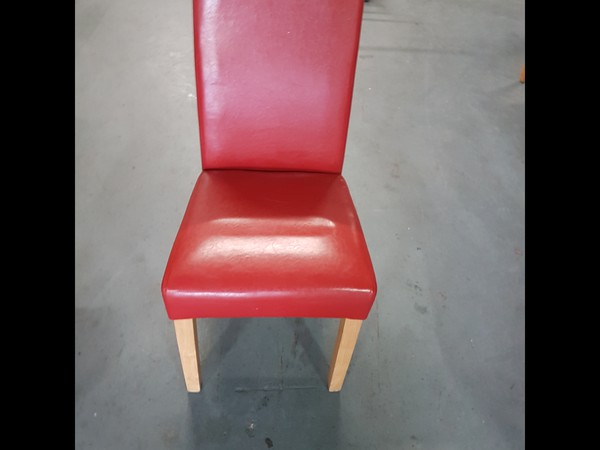 24 No. Red faux leather chairs