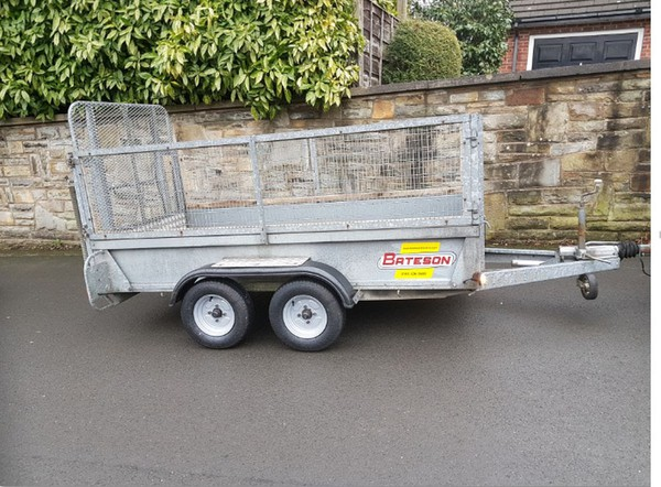 Bateson 0844 Twin Axle Braked High Sided 8ft x 8ft Trailer