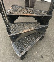 Vintage cast iron staircase