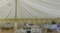 40ft x 40ft Ivory Pleated Lining for traditional pole marquee