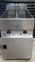 Secondhand twin tank gas fryer