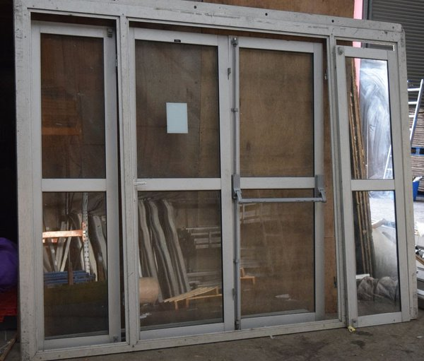 Marquee doors with panic bar for an emergency  exit