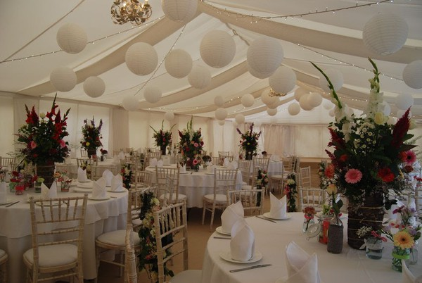 Marquee wedding Lining Ivory