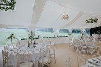 Flat lining for weddings marquees
