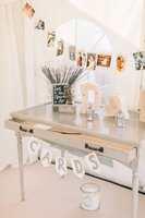 Vintage wedding sweets table