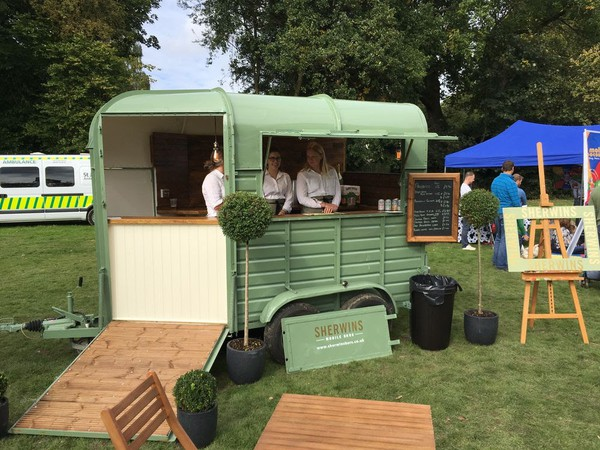 Complete horse box based cafe bar