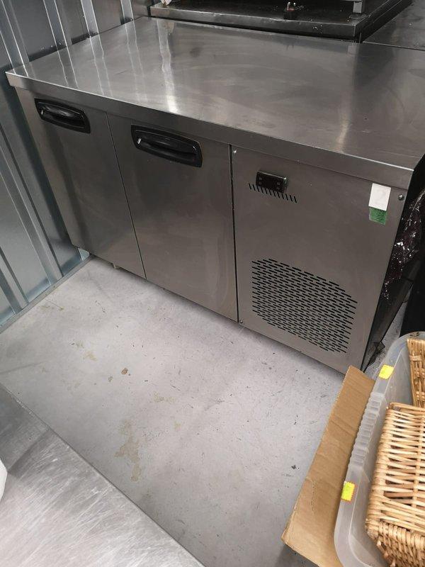 Two door prep fridge for sale