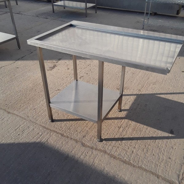 Used Stainless Steel Dishwasher Table (8277)