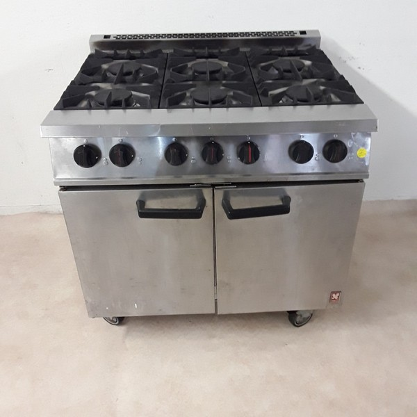 Used Falcon G2101 OT 6 Burner Range Cooker (8281)