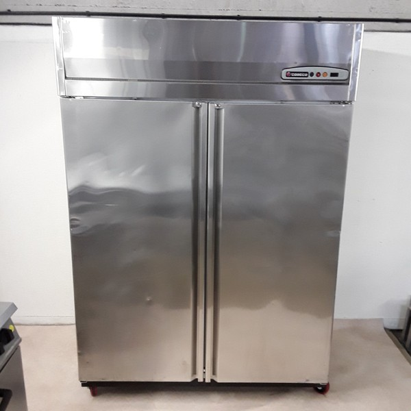 Used Coreco AGR1002 Stainless Steel Double Fridge (8282)