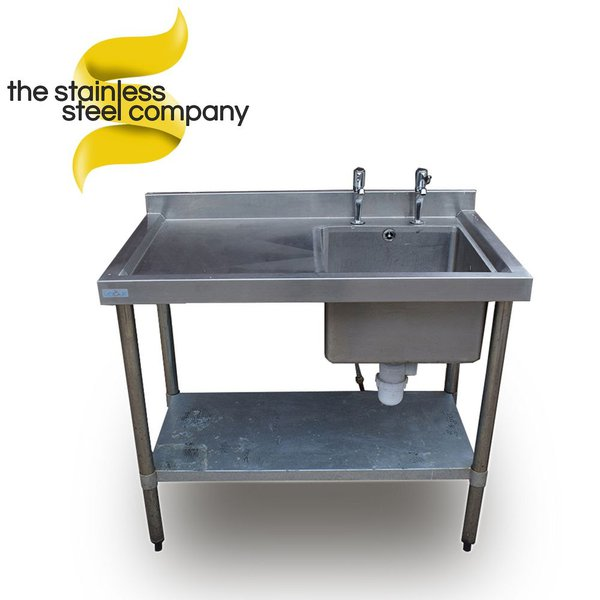 Single sink with drainer