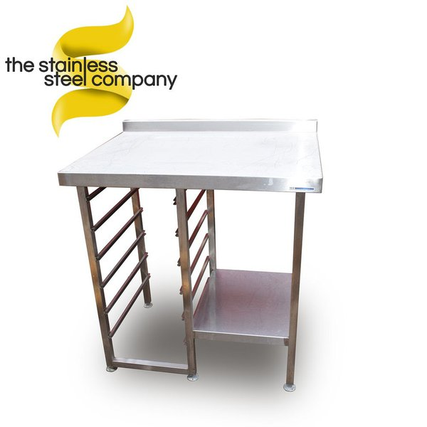 Table with tray rack