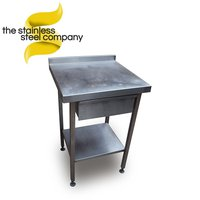 Stainless steel table with dra
