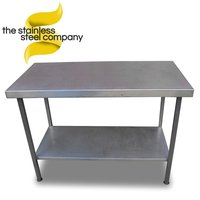Stainless steel 1.2m table