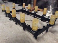 Rectangular wrought Iron Chandelier for sale