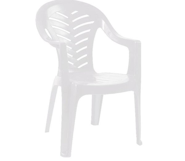 White Plastic Bistro Chairs with arms