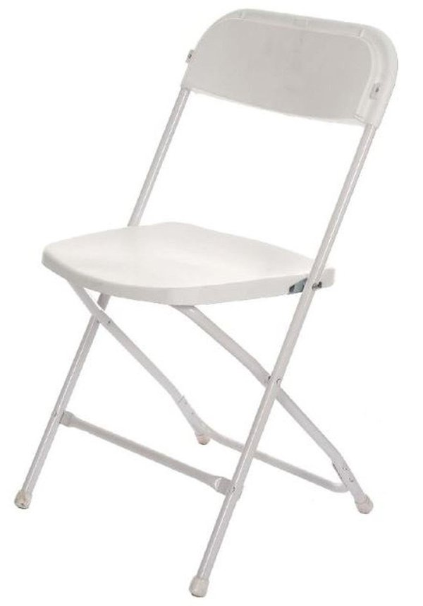 200x White Sam Folding Chairs