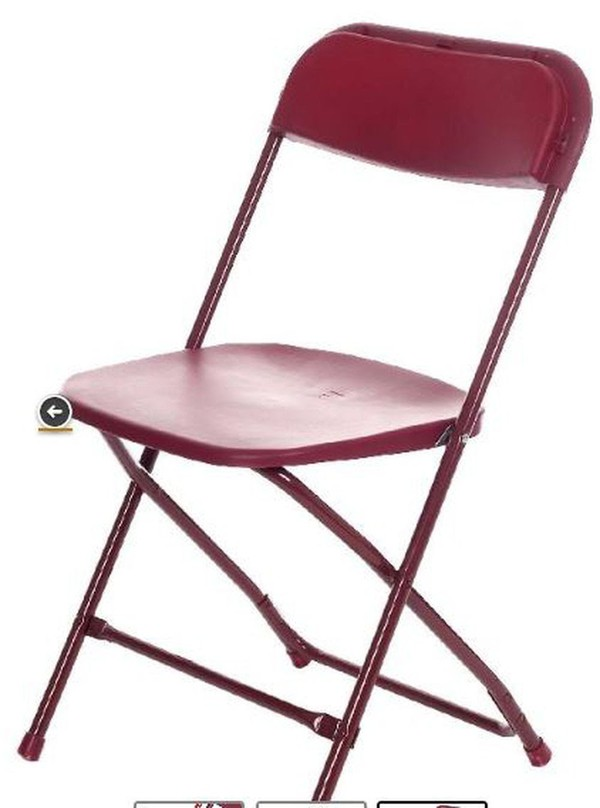 Burgundy Sam Folding Chairs