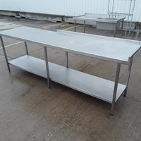 Stainless steel table 2.6m