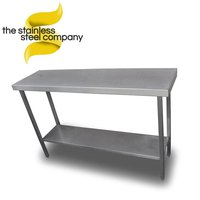 1.45m Slim Stainless Steel Table (SS572) - Cheshire
