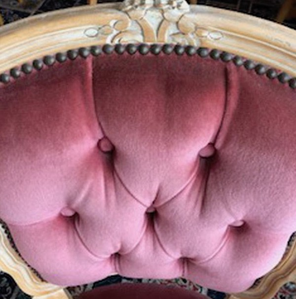 Pink Upholstered Repro Chair