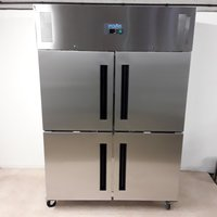 New B Grade Polar CW196 Stainless Steel Double Freezer (U8343)
