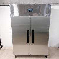 New B Grade Polar G594 Stainless Steel Double Fridge	(U8344)