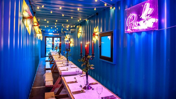 Shipping container restaurant for sale