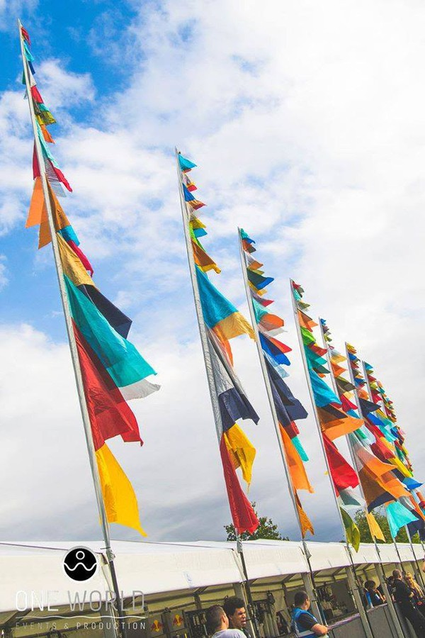 Silk flags for sale