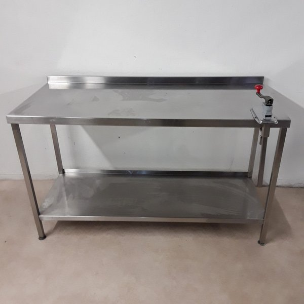 1.5m stainless steel table with can opener