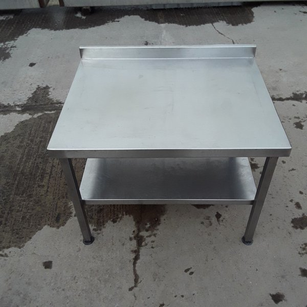 Stainless steel table with up-stand for sale