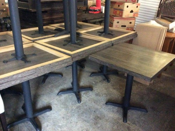70cm x 70cm restaurant tables