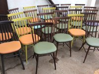 Mixed cafe chairs for sale