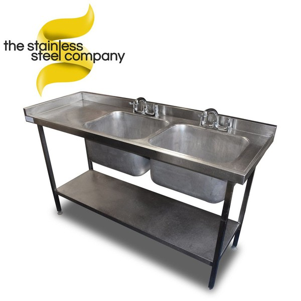 1.6m Double Sink (SS577) - Cheshire