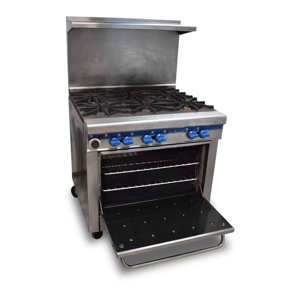 Secondhand gas range cooker