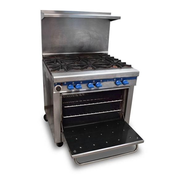 Secondhand gas range cooker