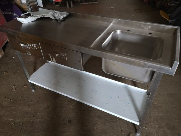 Single sink with two draws
