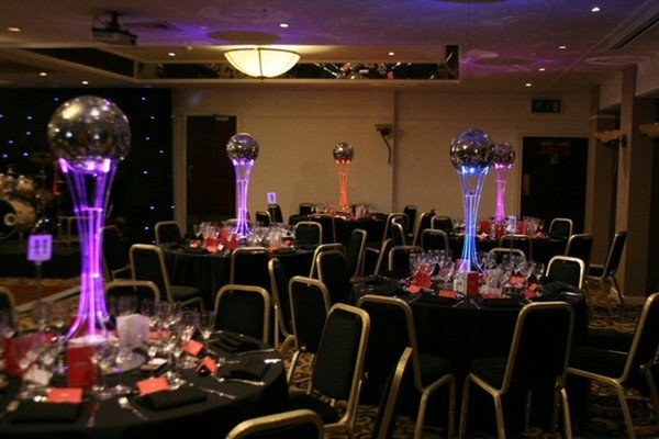 Colour changing LED table centres