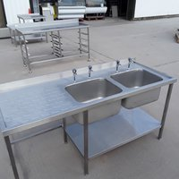 Ex Demo Stainless Steel Double Sink (8417)