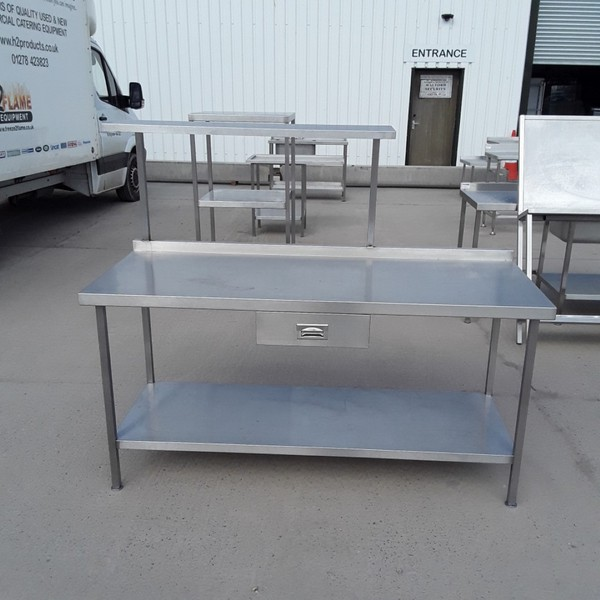 Used Stainless Steel Table (8414)