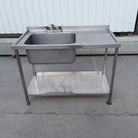Used Stainless Steel Single Bowl Sink (8411)