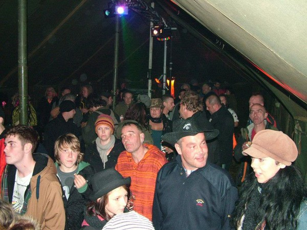 Audience in a marquee