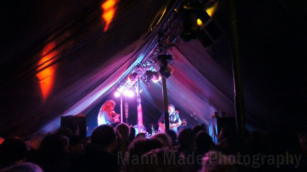 Band in a marquee