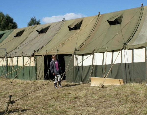 Green Canvas Marquee (army)