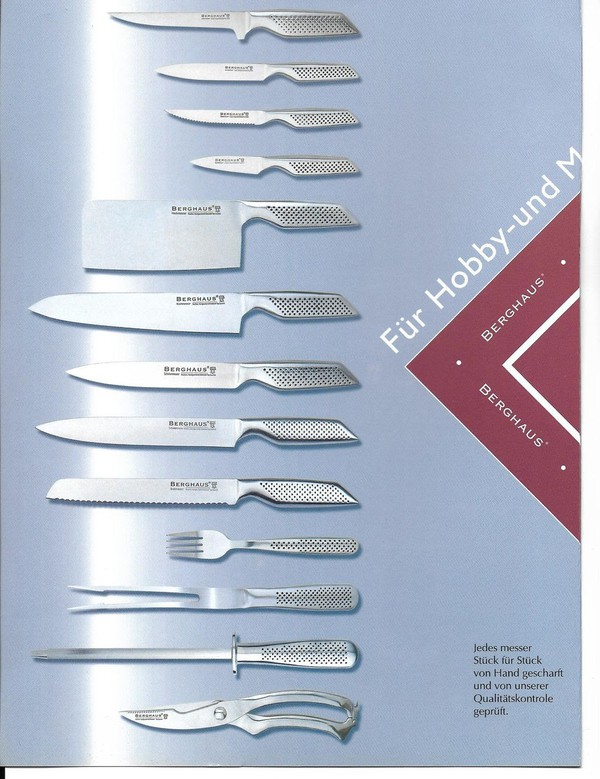 Berghaus Kitchen Knives Spec