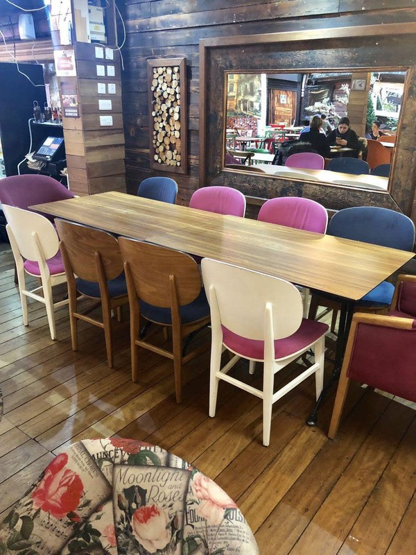 Assorted cafe / restaurant chairs