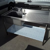 B Grade - Single sink with Right hand drainer
