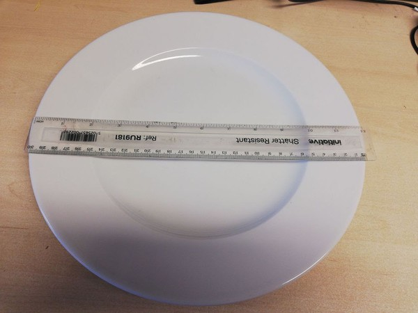 12 inch White Lubiana Dinner Plate